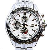 Curren M928W - Reloj para hombres, correa de acero inoxidable color plateado