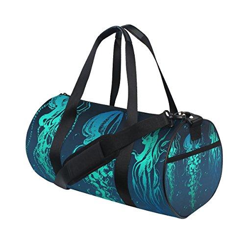 COOSUN Quallen Duffle Tasche Schulter Handy-Sport Gym-Taschen für Männer und Frauen Mittel Mehrfarben