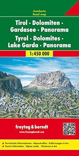 Tirol y Dolomitas en panorama. Escala 1:450.000. Freytag & Bernt.: Map (Auto karte) por VV.AA.