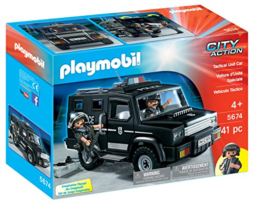 Playmobil 5674 City Action Tactical Unit Car, bunt