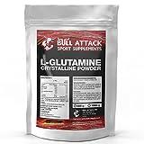 1000g / 1kg L-GLUTAMIN Pulver | Chrystalline Powder | freie Aminosäure | Regeneration + Muskelaufbau | Top Qualität + optimiert mit Vitamin B6