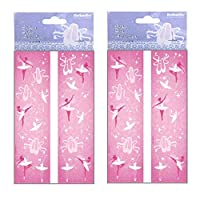 MBB x5 Packs - Girls Pink Ballet Ballerina Dance Stickers Birthday Party Bag Filler