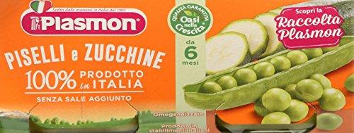 Plasmon Omogeneizzato di Verdure Piselli e Zucchine 24 Vasetti da 80 gr