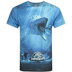 Hombres - Official - Jurassic World - Camiseta (XL)