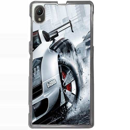 Casotec Drift Sport Print Design 2D Hard Back Case Cover for Sony Xperia Z1 L39H - Clear  available at amazon for Rs.399
