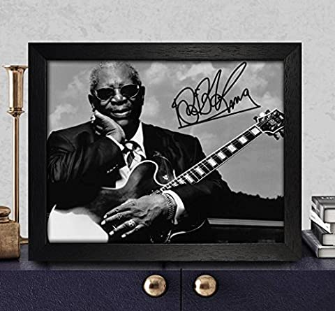 BB King Autographed Signed Photo 8x10 Reprint RP PP [Riding with the King]
