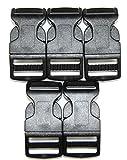 Steckschnalle Steckschließer gebogen schwarz 20mm (5 Stück)