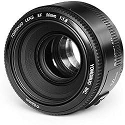 YONGNUO YN50 50mm F1.8 Objectif grande ouverture Auto Focus Lens pour Canon EOS DSLR + WINGONEER® Diffuseur