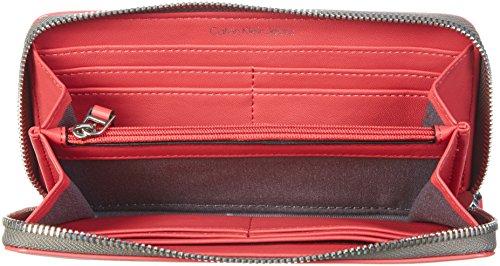 Calvin Klein - FLOW LARGE ZIPAROUND, Borse da donna RED STRIPE