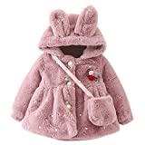 i-uend 2019 New Baby Mantel, Neugeborene Mädchen Faux Pelzmantel Dicke Flusen Warme Dicke Plus Mantel Oberbekleidung Für 0-24 Monate