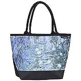 VON LILIENFELD Tasche Damen Einkaufstasche Shopper Bedruckt Motiv Kunst Claude Monet: Seerosen