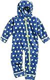 Playshoes Unisex Baby Schneeanzug Fleece-Overall Punkte Blau (Marine 11) 74