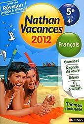 Nathan vacances Français de la 5e vers la 4e