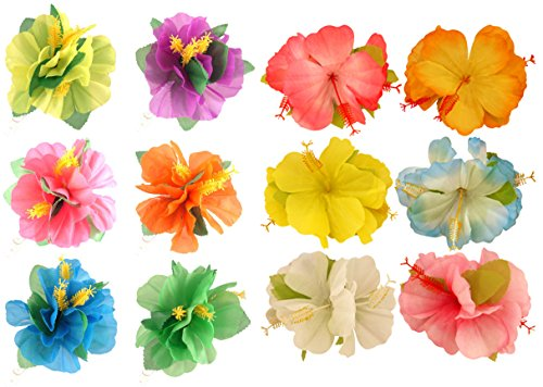 4-x-hawaiian-hibiscus-flower-hair-clips-hula-beach-fancy-dress-party-accessories-by-my-planet
