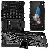 G-Shield Hülle für Huawei P8 Lite Stoßfest Schutzhülle mit Ständer - Schwarz