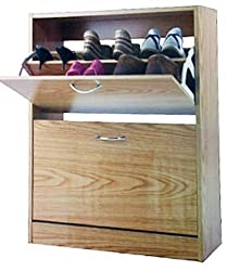Storage Organizer Luxury Wooden 2 Tier Chaussures Shoe Cabinet by supersalestore