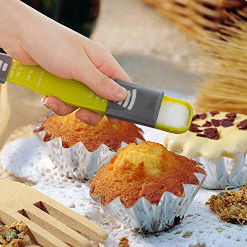Bluelover Küche einstellbare Messlöffel Mit Skala Backen Kochen Tools Backzubehör