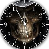Skull Wanduhr 25,4 cm Nice Geschenk und Raum Wand Decor E163