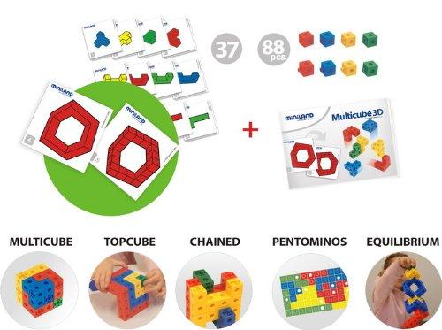 Imagen principal de Miniland 95005 Multicube 3D - Juego de cubos de construcción [Importado de Alemania]