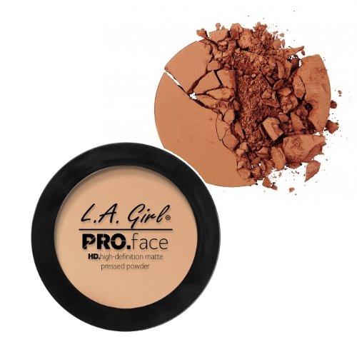 LA GIRL PRO Face Powder - GPP614 Chestnut + 1 Free Nail Polish by LA Girl USA Cosmetics