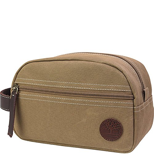 Timberland Wallets Classic Canvas Travel Kit (Khaki) (Wallet Travel Classic)