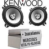 Mercedes V-Klasse Vito W638 Front - Lautsprecher Boxen Kenwood KFC-S1056-10cm Koax Auto Einbauzubehör - Einbauset