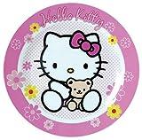 Unbekannt Fun House 004383Hello Kitty Teller Dessertteller für Kinder Porzellan Rosa 19x 19x 1cm