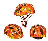 G-i-Mall Casco Bici Bambino 10 Vents 52-57 centimetri Casco da bicicletta Skateboard Skate Scooter Caschi per bambini con rivestimento del rilievo - Orange