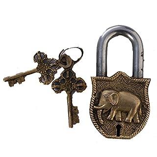 Brass Pad Lock Of Elephant Figure