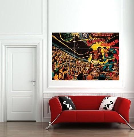 SUPERMAN V MUHAMMAD ALI 1978 GIANT WALL ART PRINT POSTER AFFICHE B180