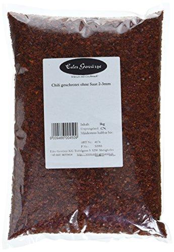 Eder Gewürze - Chili geschrotet ohne Saat 2-3mm - 1 kg, 1er Pack (1 x 1 kg)