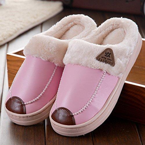 Cotone Interno Pavimento Rosa Slittamento Gli Coppie Spessore E Homee Pantofole Hanno Striscia Di Impermeabili Domestico Caldo Uomini Donne Inverno qXaCO7