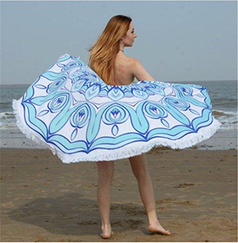 Xxszkaa/asciugamano da spiaggia con stampa decorativa con bordi arrotondati / coperta da spiaggia per le vacanze in spiaggia con sciarpa avvolgente / materassino da yoga, a1,150 * 150cm