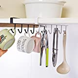 Becher Halter unter Regalen Tasse Kleiderbügel Trocknen Rack, woopower Küche Storage Rack Organizer für Schrank Küche Schrank Badezimmer Free Size weiß