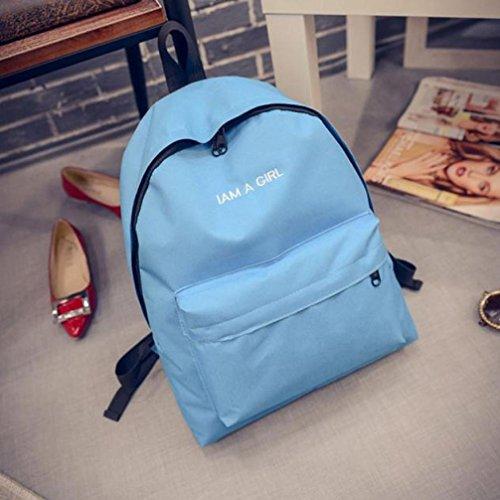 OverDose 1PC Garçons filles Unisexe sac à dos sac à dos sac à bandoulière scolaire Bleu
