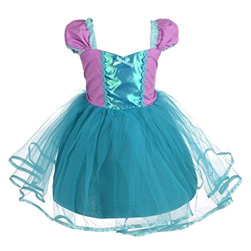 Kostüm Angel Baby - Lito Angels Baby Mädchen Prinzessin Meerjungfrau Kleid Kostüm Weihnachten Halloween Party Verkleidung Karneval Cosplay Kinder 12-18 Monate