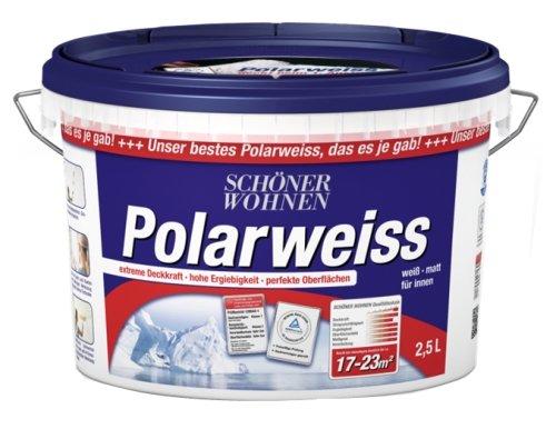Schöner Wohnen 2,5 L. Polarweiss, extreme Deckkraft, Weiß Matt -