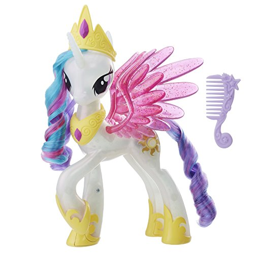 Hasbro My Little Pony E0190EU4 Movie Leuchtzauber Prinzessin Celestia, Puppe, Multi