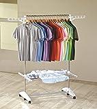 SONDERANGEBOT: One Click Luxus Wäscheständer® E1, Wäscheturm und Garderobe 2in1