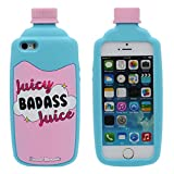 iPhone 5 5S Funda iPhone SE iPhone 5C Carcasa Silicona Original Interesante 3D Badass Jugo Botella Apariencia Bonita Color Suave Case AntiGolpes