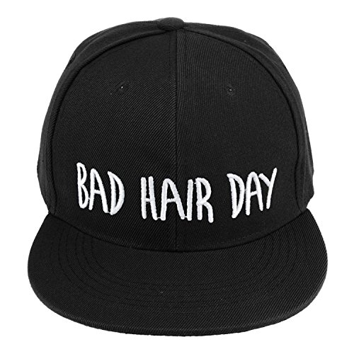 fringoo-herren-baseball-cap-schwarz-bad-hair-day-cap-one-size