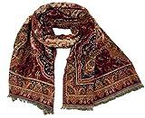 Guru-Shop Indischer Paisley Pashmina Schal/Stola, Schultertuch - Rot/schwarz, Herren/Damen, Synthetisch, Size:One Size, 220x100 cm, Schals Alternative Bekleidung