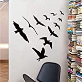 Hwhz 67 X 57 cm Waterproof Large Flying Birds V Shape Wall Sticker Wall Stickers Home Decor Wall Decals
