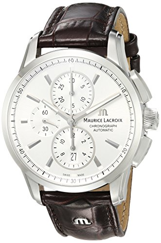 Maurice Lacroix Montre Swiss-Automatic analogique pour Homme avec Sangle Leather-Crocodile Pt6388-ss001–130–1