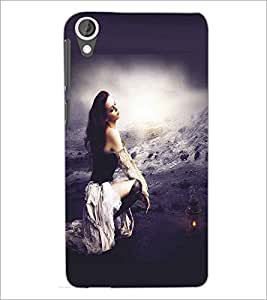 HTC DESIRE 820 LONELY GIRL Designer Back Cover Case By PRINTSWAG