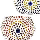 6er Set Orientalisches Mosaik Windlicht Ajan 9 cm groß Bunt   Orientalische Glas Teelichthalter orientalisch   Marokkanische Windlichter aus Glas als Dekoration   6 Stück - 6