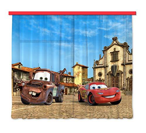 AG Design FCS xl 4315 - Cortinas para habitación infantil, diseño de CARS