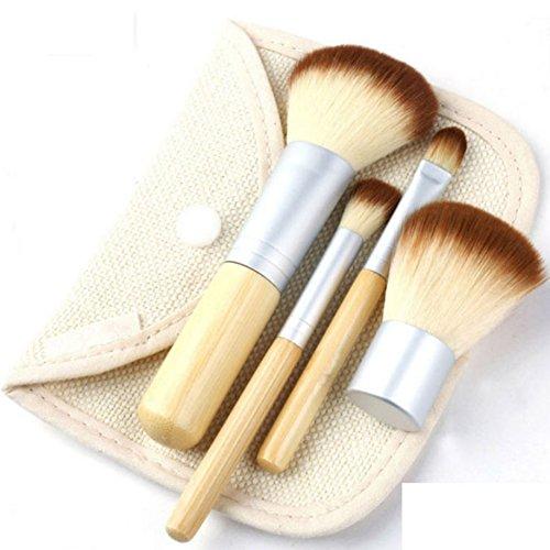 Cexin professionel 4 pinceaux maquillage exquis avec trousse pinceaux set