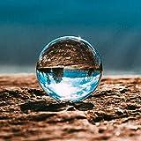 Kioneer110 klare Kristallkugel mit Ständer, magische Kugel, Dekoration, Ornamente für Zuhause, Party, Kristall, 3.14in(8cm)