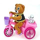ZHAOHUIFANG Baby Elektrisches Spielzeug Wird Bär Reiten Dreirad Winnie der Bär Kleines Tier Spielzeug Männer und Frauen 1-2 Jahre Alt September-Dezember Laufen,Pink-#1
